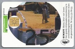 NL.- Telefoonkaart. PTT TELECOM. 25 Gulden. Simavi. Water, Bron Van Leven. De Aarde: Onze Waterbron. Handen. - Ontwikkeling