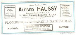 Pl A H/Buvard Plombier Alfred Haussy (Format 22 X 10)  (N= 1) - Buvards, Protège-cahiers Illustrés