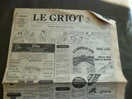 Quotidien Afrique Le Griot Août 1981 Abidjan Côte D'Ivoire BD Illustrateur 8 Pages Plis D'archivage - Kranten