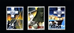 MALTA - 1992  AWARDS OF GEORGE CROSS TO MALTA  SET  MINT NH - Malta