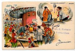 CPA Cirque Cirk Circus Circulé En 1901 Type Gruss Fête Foraine Manège - Circus