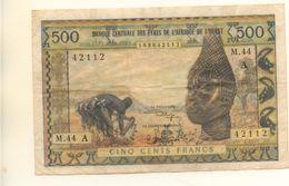 ETATS E L'AFRIQUE DE L'OUEST - Billet De 500 F Lettre A ( Cote D'ivoire ) - États D'Afrique De L'Ouest