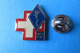 Pin's,CROIX ROUGE, Médical Caducée Serpent, Militaire Suisse, SMSV SSTS - Medical