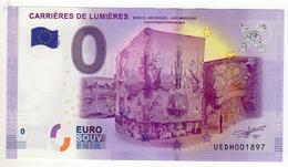 2017-3 BILLET TOURISTIQUE 0 EURO SOUVENIR N° HEDH001386 CARRIERES DE LUMIERES - EURO