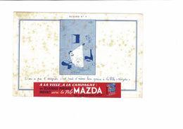BUVARD  PILE MAZDA  NO 4 - Piles