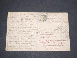FRANCE - Vignette Patriotique Sur Carte Postale De Vaucottes Sur Mer En Franchise Militaire - L 13863 - Erinnophilie