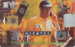 Télécarte à Puce ZIMBABWE - Téléphone ALCATEL 100 $ - ZIM 33 - Chip Phonecard Telefonkarte - Simbabwe