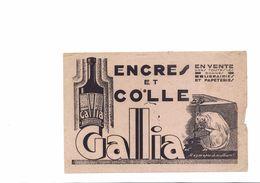BUVARD    ENVRE ET COLLE GALLIA - Buvards, Protège-cahiers Illustrés