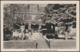 Cliffedge, 1555 River Road, Niagara Falls, Ontario, C.1930s - Leslie Postcard - Niagara Falls