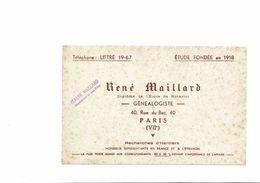 BUVARD  RECHERCHE D HERITIERS - Vloeipapier