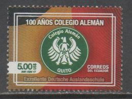 ECUADOR , 2017, MNH, GERMAN SCHOOL, COAT OF ARMS, EAGLE, 1v - Stamps