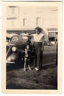 AUTO CAR VOITURE FIAT TOPOLINO SAINT TROPEZ - FOTO ORIGINALE 1952 - Cars