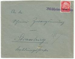 H76 - BISCHHEIM HOENHEIM - 1940 - Provisoire Caoutchouc Hindenburg Surchargé Elsass - Gummistempel - - Alsace-Lorraine