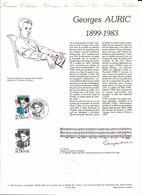 Doc Fdc+ Gravure 11/4/92,  N°2751 Yvert, Musiciens Compositeurs, Georges Auric, Partition, Lodève - Documents De La Poste