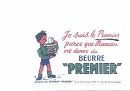 """BUVARD  BEURRE """" PREMIER  """" - Buvards, Protège-cahiers Illustrés"""
