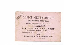 BUVARD   OFFICE GENEALOGIQUE - Buvards, Protège-cahiers Illustrés