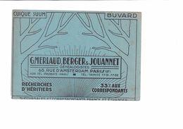 BUVARD    G MERLAUD BERGER & JOUANNET - Buvards, Protège-cahiers Illustrés