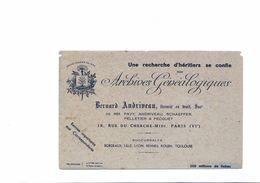 BUVARD  ARCHIVES GENEALOGIQUES - Blotters