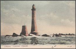 Eddystone Lighthouse, Near Plymouth, Devon, 1905 - J Welch Postcard - England