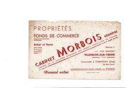 BUVARD   CABINET MORBOIS GEOMETRE - Buvards, Protège-cahiers Illustrés