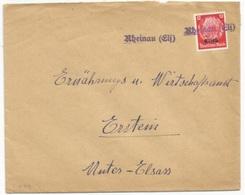 H89 - RHEINAU Els - 1940 - Provisoire Caoutchouc Hindenburg Surchargé Elsass - Gummistempel - - Alsace-Lorraine