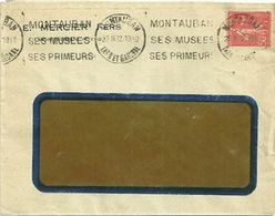 TARN & GARONNE - Dépt N° 82 = MONTAUBAN 1932 = FLAMME Continue = KRAG  ' MUSÉES / PRIMEURS ' - Oblitérations Mécaniques (flammes)