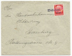 H95 - WOLFISHEIM - 1940 - Provisoire Caoutchouc Hindenburg Surchargé Elsass - Gummistempel - - Alsace-Lorraine