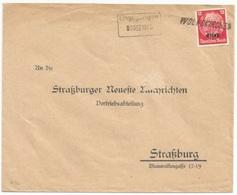 H96 - WOLFSKIRCHEN - Griffe Française - 1940 - Provisoire Caoutchouc Hindenburg Surchargé Elsass - Gummistempel - - Alsace-Lorraine