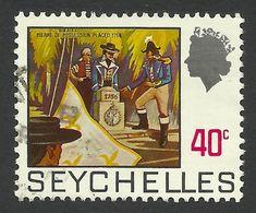 Seychelles, 40 C, 1972, Scott # 262A, Used. - Seychelles (...-1976)