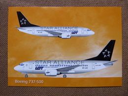 AIRLINE ISSUE / CARTE COMPAGNIE    LOT  STAR ALLIANCE   B 737 500 - 1946-....: Era Moderna