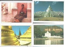 BIRMANIA-N.6-CARTOLINE VARI LUOGHI E VEDUTE-FG-N.4534 - Postcards