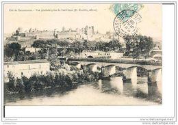 CARCASSONNE LA CITE VUE GENERALE PRISE DU SUD OUEST CPA BON ETAT - Carcassonne