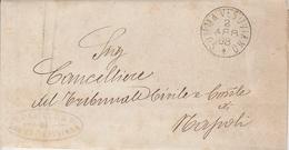 Somma Vesuviana. 1888. Annullo Grande Cerchio SOMMA VEUSVIANO + Annullo PRETURA, Su Franchigia Con Testo - 1878-00 Humbert I.