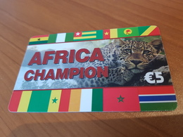 Africa Champion  - Jaguar -    5 €   - Little Printed   -   Used Condition - Deutschland