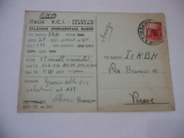 CARTOLINA RADIOAMATORI  SANREMO  EXPERIMENTAL S.W. TRANSMITTING STATION. - Radio Amatoriale