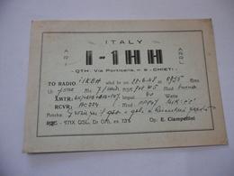 CARTOLINA RADIOAMATORI  CHIETI  EXPERIMENTAL S.W. TRANSMITTING STATION. - Radio Amatoriale