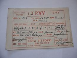 CARTOLINA RADIOAMATORI  VARESE   EXPERIMENTAL S.W. TRANSMITTING STATION. - Radio Amatoriale
