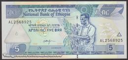 TWN - ETHIOPIA 47c - 5 Birr 2003 Prefix AL UNC - Etiopia