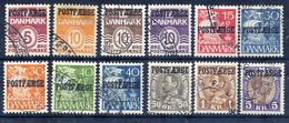 DENMARK  1936-42 Parcel Post Issues  Used.  Michel 16-27 - Parcel Post