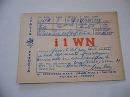 CARTOLINA RADIOAMATORI  PERUGIA   EXPERIMENTAL S.W. TRANSMITTING STATION. - Radio Amatoriale