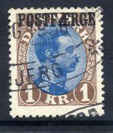 DENMARK  1924 Parcel Post 1 Kr.  Used.  Michel 10 - Parcel Post
