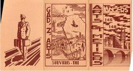 Plaquette Triptique 145 à 148 Des Arts Et Métiers D'Angers, Liste Des Promos Par Ordre Alphabétique (gm1.1) - Diplômes & Bulletins Scolaires