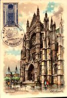 Illustrateur - Barre Dayez - Beauvais - La Cathédrale - Portail Sud - Timbre - Art Gothique - SC71-1 -  R/v - Barday
