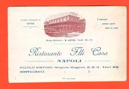 Napoli Ristorante F.lli Casa Di S. Lucia Borgo Marinaro Cp Anni 30 - Pubblicitari
