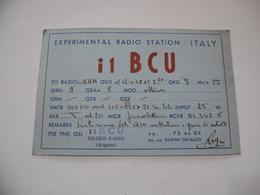 CARTOLINA RADIOAMATORI  CALUSCO D'ADDA BERGAMO  EXPERIMENTAL S.W. TRANSMITTING STATION. - Radio Amatoriale