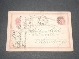 DANEMARK - Entier Postal De Frederica Pour Hamburg En 1884 - L 13878 - Interi Postali