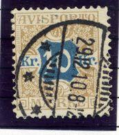 DENMARK 1907 Avisporto (newspaper Accounting Stamps) 10 Kr.  Used.  Michel 10 - 1905-12 (Frederik VIII)