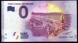 France - Billet Touristique 0 Euro 2018 N°001789 (UEEE003300/5000) - PONT-CANAL DE BRIARE - EURO