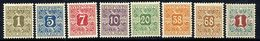 DENMARK 1907 Avisporto (newspaper Accounting Stamps) Set To 1 Kr. LHM / *  .  Michel 1-8 - 1905-12 (Frederik VIII)