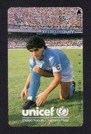 Télécarte Japonaise.  Sport.  Football.   Diego Maradona.  Unicef. - Deportes